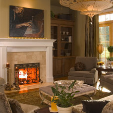 Traditional Living Room by Collins Group Design, Inc.
