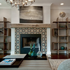 Contemporary Living Room by Buckingham Interiors + Design LLC