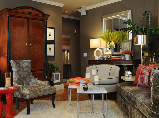 Transitional Living Room by Brian Dittmar Design, Inc.