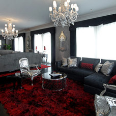 Contemporary Living Room by Habachy Designs