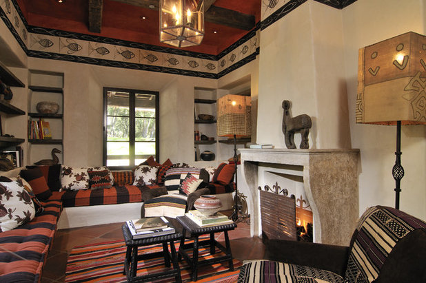 Southwestern Living Room by FGY Architects