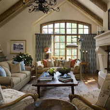 Rustic Living Room by Slifer Designs