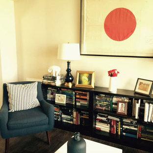 Esempio di un soggiorno country di medie dimensioni e aperto con sala formale, pavimento in vinile, nessun camino e nessuna TV