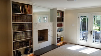 Built In Bookcases @ Living Room