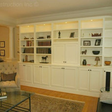 Transitional Living Room by RJK Construction Inc