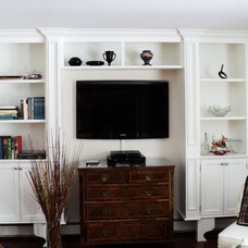 Traditional Living Room by Hawkins Cabinetry and Design
