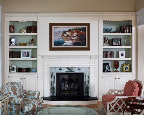 SaveEmail - Fireplace With Bookcases Houzz