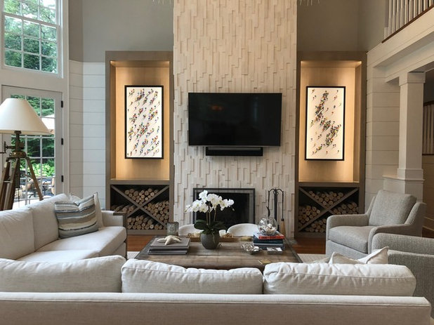 Transitional Living Room by Alliance Residential
