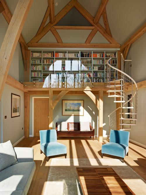Mezzanine library houzz for How do i build a mezzanine