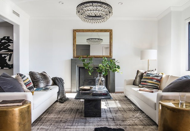 Transitional Living Room by Boswell Construction