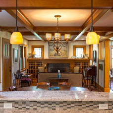 Craftsman Living Room by TIMOTHY FULLER architects