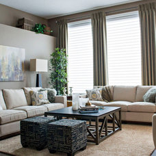 Contemporary Living Room by AMR Design