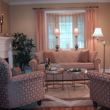 Traditional Living Room by Wynter Interiors Inc