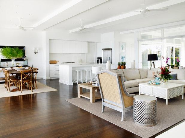 Beach Style Living Room by Stritt Design & Construction Pty Ltd