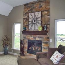 Traditional Living Room by Miller Custom Stone, Ltd.