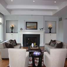 Traditional Living Room by Cabinet Style