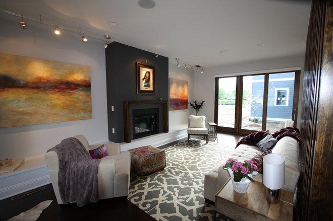 Contemporary Living Room by Sieradzki Design