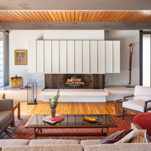 75 Beautiful Midcentury Modern Formal Living Room Pictures ...