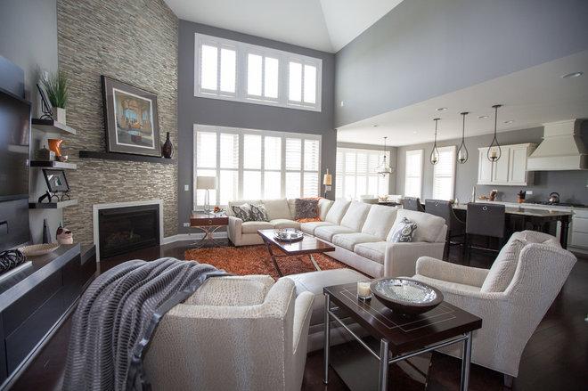 Contemporary Living Room by Dream Interiors