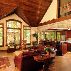 Rustic Living Room by Lancaster Craftsmen Builders Inc.