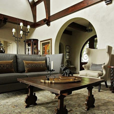 Traditional Living Room by Wright Design