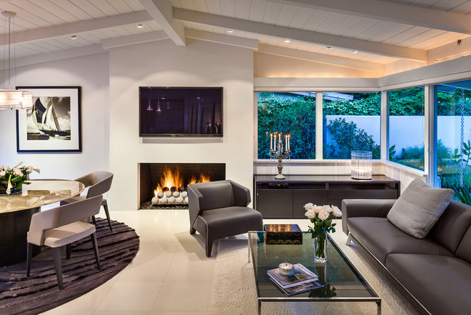 Midcentury Living Room by Neumann Mendro Andrulaitis Architects LLP