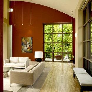 Immagine di un ampio soggiorno contemporaneo