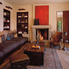 Mediterranean Living Room by Buttrick Wong Architects