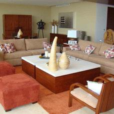 Mediterranean Living Room by muebles tabu by alexis samano