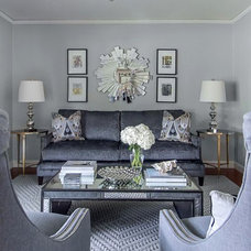 Contemporary Living Room by Emily Johnston Larkin