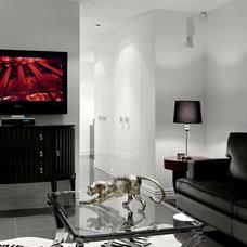 Contemporary Living Room by JADO DECOR PTY LTD
