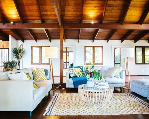 Tropical living room design ideas renovations photos for Tropical living room ideas