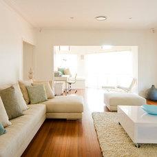 Contemporary Living Room by Kate Platt Designs