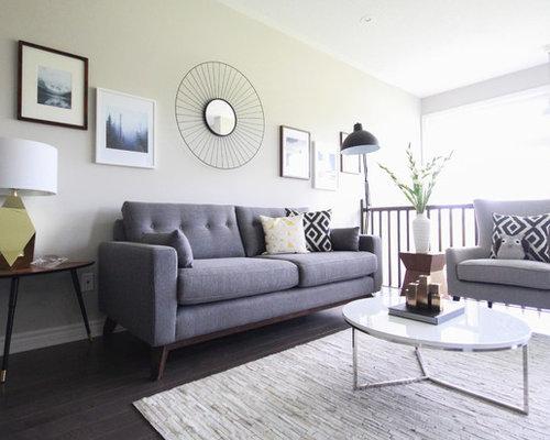 Medium sized midcentury living room design ideas for Medium sized living room