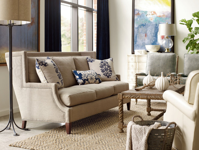 Contemporary Living Room by Barbara Schaver @ Furnitureland South