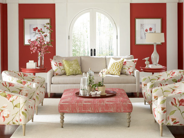 Traditional Living Room by BARBARA SCHAVER DESIGNS