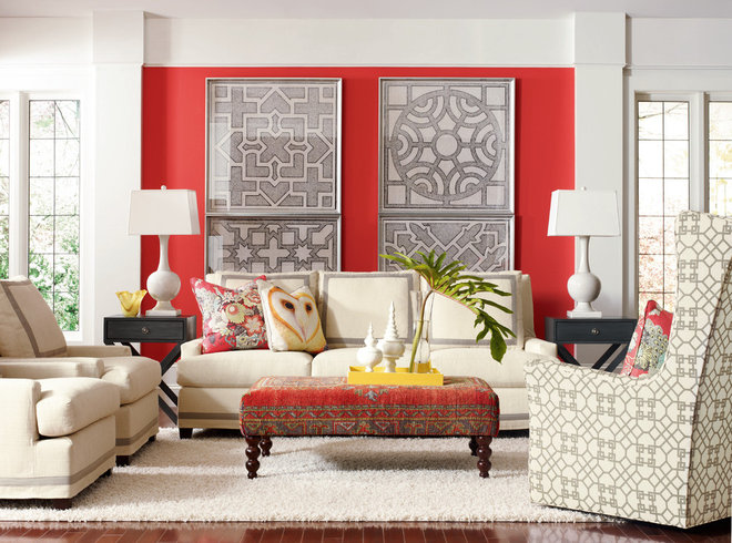 Eclectic Living Room by Barbara Schaver @ Furnitureland South