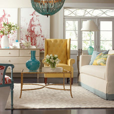 Eclectic Living Room by BARBARA SCHAVER DESIGNS