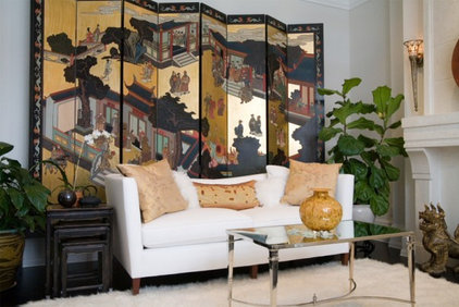 Asian Living Room by c3d design