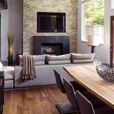 Contemporary Living Room by Heffel Balagno Design Consultants