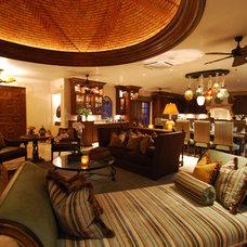 Mediterranean Living Room by Dennis Baldwin Interiors