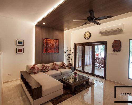Wohnzimmer mit marmorboden und brauner wandfarbe ideen design bilder beispiele - Marmorboden wohnzimmer ...