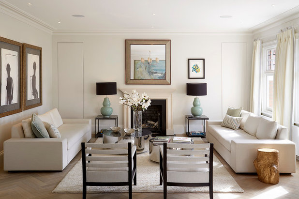 Transitional Living Room by TALIA COBBOLD