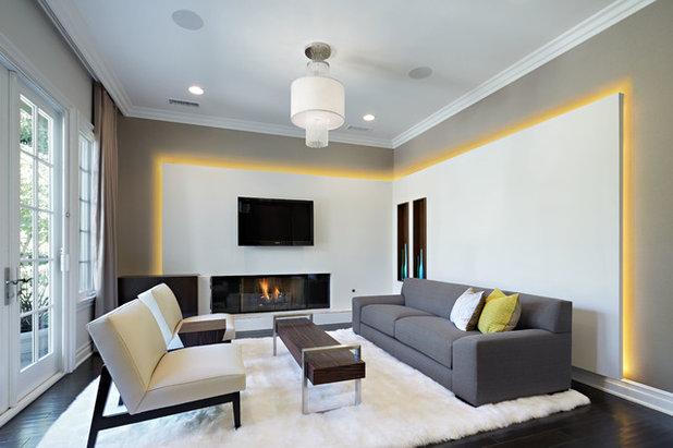 Contemporary Living Room by Caisson Studios