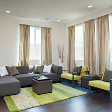 Contemporary Living Room by Caisson Studios
