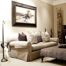 Eclectic Living Room by Caitlin Wilson