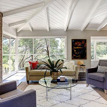 Cal Modern Ranch Living Room