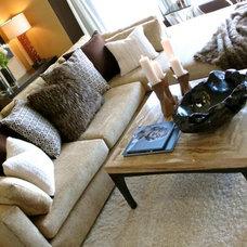 Mediterranean Living Room by Cherryl Alan Design Group
