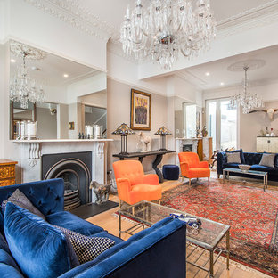 Inspiration for a bohemian living room in London.