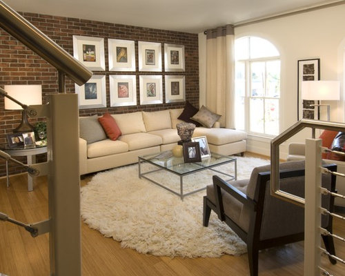 Brick Wall Living Room Houzz